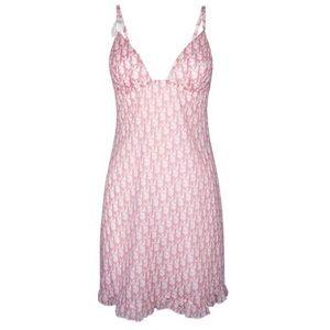Vintage 2004 Christian Dior Pink Sheer Dress